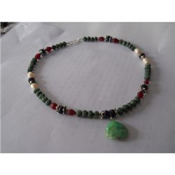 252.25 ctw Semi Precious Necklace .925 Sterling