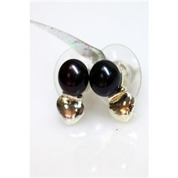 Natural 13.63ct Pearl Earring .925 Sterling