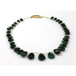 Natural Emeralds Graduated Necklace 122.70 ctw