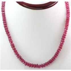 Natural Ruby Necklace 169.52ctw with brass clasp