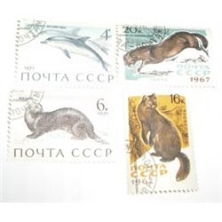 4 Total U.S.S.R. C.C.C.P RARE WILDLIFE Stamps *4 TOTAL ALL FOR 1 MONEY*!!