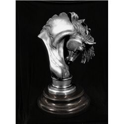 Original Fine Silver Sculpture - El Caballero by Estevez