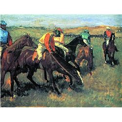 Avant La Course - Edgar Degas - Limited Edition on Canvas