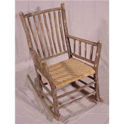 sc 1 st  iCollector.com & Lot 159_: Adirondack Style Primitive Rocking Chair