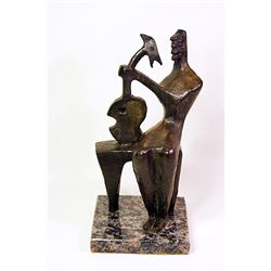 Henry Moore  Original, limited Edition  Bronze - Mother and Child