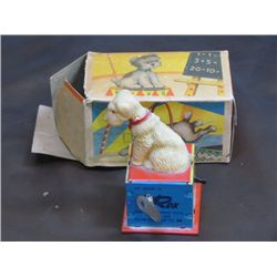 1940s H K No. 574 Keywind Rex Counting Toy with original Box Approx. 3 Inches Tall
