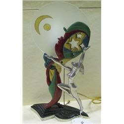 "Art Deco 15"" Tall handpainted Lamp"