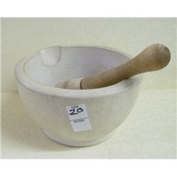 "Mortal and Pestle T.M.C Company 8.5"" diameter 5"" tall"