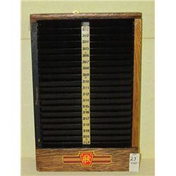 "Original Oak Railroad Time Clock with Time Card Slots in Original Condition 16"" Tall x 11"" Wide"