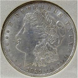 1921 Morgan Silver Dollar TAS MS-65