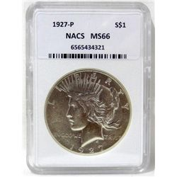 1927-P Peace Silver Dollar NACS MS66