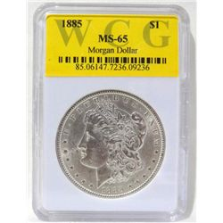 1885 Morgan Silver Dollar WCG MS65