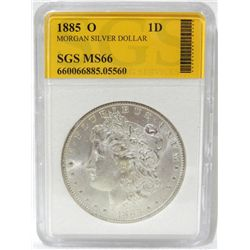 1885-O Morgan Silver Dollar SGS MS66