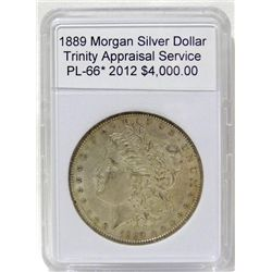 1889 Morgan Silver Dollar PL-66 w/Appraisal