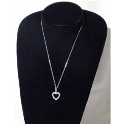Women's Open Heart Shaped Pendant w/ Necklace