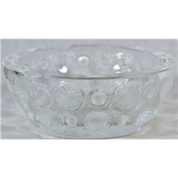 Vintage Lalique engraved crystal ashtray