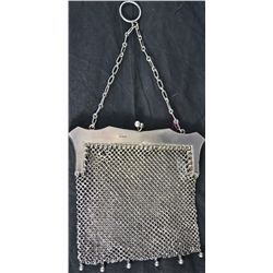 Antique ladies sterling silver mesh purse