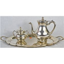 Vintage sterling silver 3 piece tea set
