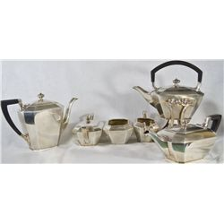 Antique 6 piece Sterling silver tea set