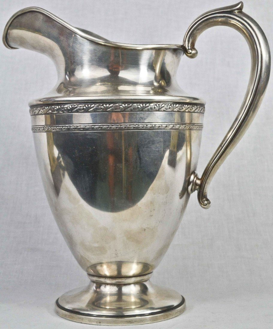 Antique Large Sterling Silver Pitcher Hallmarked