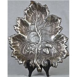 Antique large sterling silver fruit tray
