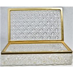 Vintage cut glass jewelry box