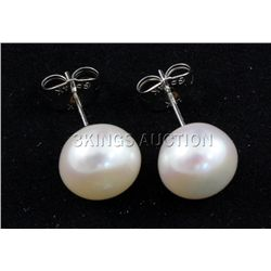 16.19CTW WHITE RICE PEARL EARRING PHILIPPINES