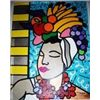 Image 1 : Jozza Original Painting on Canvas Pop Art Island Girl