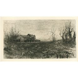 "Parrish ""November"" Original Etching"