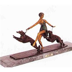 """High Spirits"" Bronze Sculpture - Lormier"