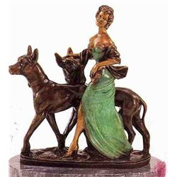 """Aristocrats"" Bronze Sculpture - Meneville"