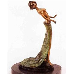 """Pretty Pose"" Bronze Sculpture - Paris"