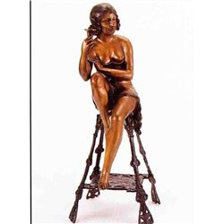 """Champagne Lady"" (Right) Bronze Sculpture - Mir"