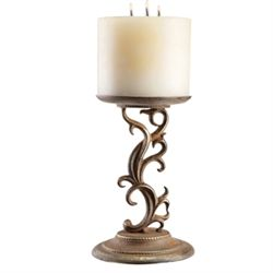 Scroll Pillar Candle Stick