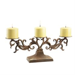 Scroll Pillar Candleabra