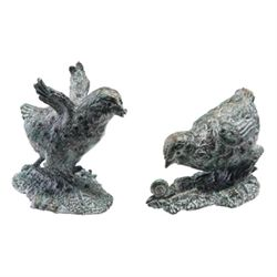 Pair Bird Sculptures
