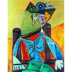 """Picasso """"Seated Woman In An Armchair"""""""