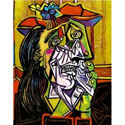 """Picasso """"Weeping Woman With Red Hat"""""""