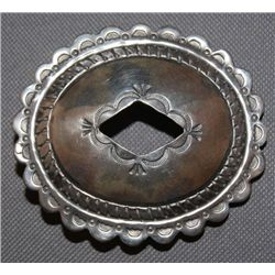 NAVAJO SILVER BELT BUCKLE