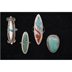 COLLECTION OF NAVAJO RINGS