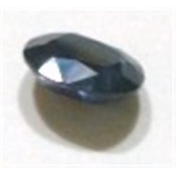 3.25ct BLUE SAPPHIRE GEMSTONE CUT & FACETED *NICE DARK BLUE COLOR STONE*!!
