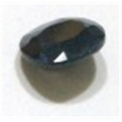 3.30ct BLUE SAPPHIRE GEMSTONE CUT & FACETED *NICE DARK BLUE COLOR STONE*!!