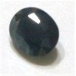 3.50ct BLUE SAPPHIRE GEMSTONE CUT & FACETED *NICE DARK BLUE COLOR STONE*!!