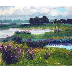 Anne Boysen, Magenta Loosestrife, Signed Print