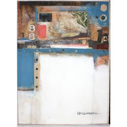 """Robert Rauschenberg, Mixed Media, Titled """" Barely There"""