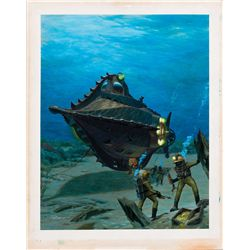 ORIGINAL COVER ARTWORK FOR 20,000 LEAGUES UNDER THE SEA CINEFANTASTIQUE MAGAZINE