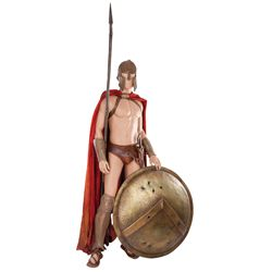 COMPLETE HERO SPARTAN SOLDIER COSTUME AND SHIELD FROM 300
