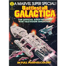 ORIGINAL BOB LARKIN COVER ARTWORK FOR THE BATTLESTAR GALACTICA COMIC BOOK.