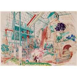 ORIGINAL HARPER GOFF PUBLISHED ARTWORK FOR THE CHOCOLATE ROOM IN WILLY WONKA & THE CHOCOLATE FACTORY