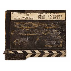 PRODUCTION CLAPPERBOARD FROM WILLY WONKA & THE CHOCOLATE FACTORY